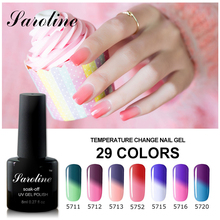 Saroline 8ml Lucky Colors Long Lasting Gel Polish Soak Off Thermo Gel Varnishes Temperature Change Color UV Gel Nail Polish