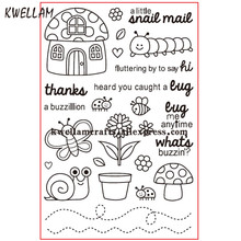 a little snail mail thanks Scrapbook DIY photo cards rubber stamp clear stamp transparent stamp 10x15cm KW7090101(China)