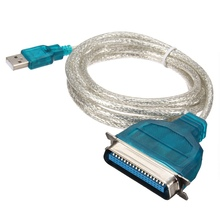 High Quality 1.8M USB 2.0 A Male to 36 Pin IEEE1284 Female Adapter Cable For Parallel Printer