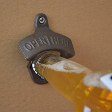 Wall Hanging Bottle Opener Metal Retro Wall Mounted Beer Opener Tool Unique Creative Gift(China)