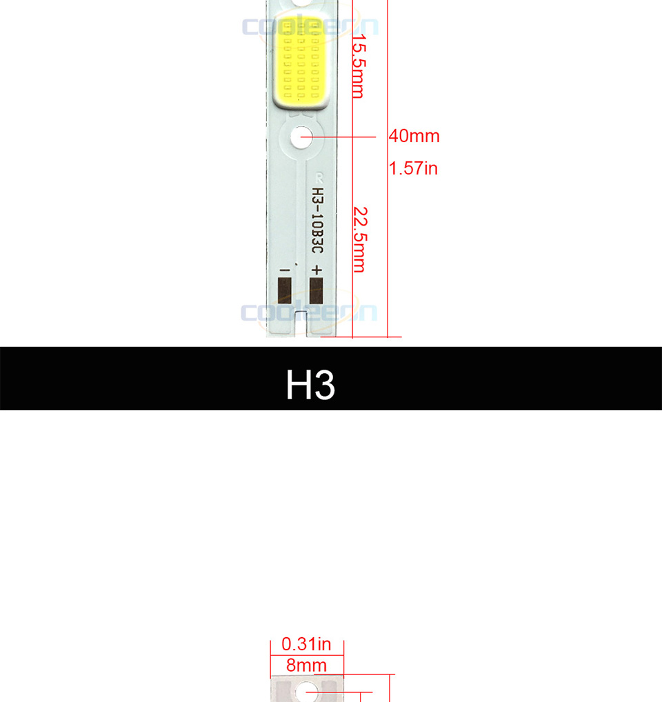 c6 car headlight cob chip light source H1 H3 H4 H7 cob lamp (3)