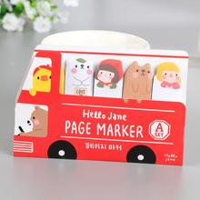 Cute Kawaii Bus Style Memo Pad Planner Paper Bookmark Stickers Stationery School Supplies Post It