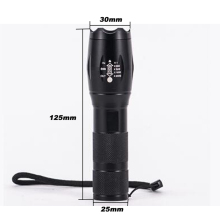 Portable 8000 Lumens CREE XM-L T6 LED Flashlight Torch Zoomable Lamp 5-Mode Lanterna by 1*18650 Battery or 3*AAA Battery