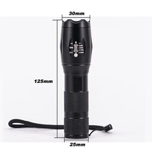 Portable 8000 Lumens CREE XM-L T6 LED Flashlight Torch Zoomable Lamp 5-Mode Lanterna by 1*18650 Battery or 3*AAA Battery(China)