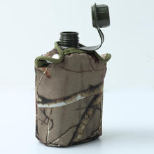 850ml Army Style Patrol Water Bottle Canteen Sport Camping Travel Hiking Supplies With Camo Bag