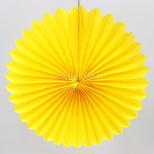 "Party Supplies 12""(30cm) Tissue Paper Fan Wedding Baby Shower Decoration Round Paper Fan"