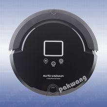 Pakwang A320 Automatic Robotic Vacuum Cleaner for Home with LCD screen, Remote Control, sterilization function(China)