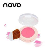 NOVO Professional Fashion Zhen Yan Powder Yang Monochrome Blush Flower-shaped Cute Cosmetics Rosy Transparent Matte Palette(China)