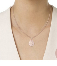 2017 Lovely 25mm Cleo Roze Pear Shape Tone Disc water finish Pendant Necklace Complete Set for Fashion Women Jewelry