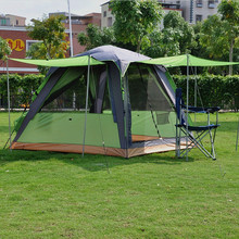 Alltel genuine camping double layer 3-4 people square top outdoor tent