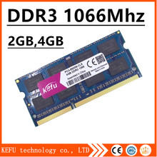 Sale memory ram ddr3 4gb 2gb 8gb 1066Mhz pc3-8500 sodimm laptop, ddr3 ram 4gb 2gb 1066mhz pc3 8500 notebook, ddr 3 ddr3 4gb 1066(China)