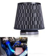 "More Intake Flow - Air Filter Auto Vehicle Car Cold Air Intake Filter Cleaner 3"" 76mm Dual Funnel Adapter For Turbo Racing(China)"