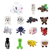 15 Styles Minecraft Stuffed Plush Toys 16-26cm Minecraft Creeper Enderman Wolf Steve Zombie Spider Sketelon Plush Toy for Kids(China)