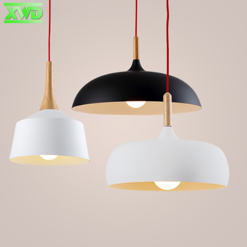 Modern Aluminum Wood Amreican Pendant Lamp E27 Lamp Holder 110-240V Dining Room/Coffee House Indoor Lighting Free Shipping<br>