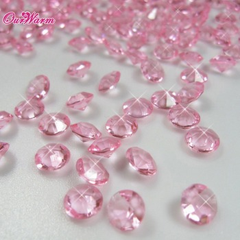 1000Pcs Bling Diamond Confetti 6.5mm 1 Carat for Wedding Decoration Event Party Supplies High Quality 11Colors