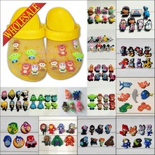 Mixed 6-8PCS Lovely PVC Shoe Charms Cartoon Shoe Buckles Accessories Fit Bands Bracelets Croc JIBZ Kids Party Gifts/Favors(China)