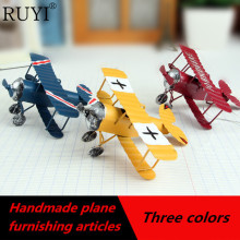 Handmade vintage model plane  metal crafts home decoration furniture furnishing articles during world war ii aircraft