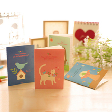 1PC Mini Notebook Diary Pocket Notepad Novelty Cartoon Forest Animals Promotional Gift Stationery(China)