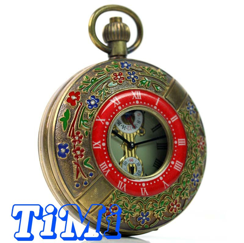 wholesale 55mm ARCHAIZE BRASS Imperial palace ROMAN NUM MECHANICAL POCKET WATCH<br>