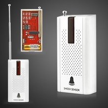 Wireless Door Window Vibration Detector Shock Sensor External Antenna For Home Security Voice Alarm System(China)