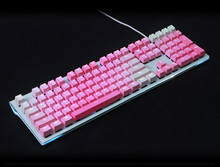104key Gradient pink PBT Double shot Translucidus Backlight Backlit Rinbow Keycaps Key Cap for Mechanical gaming Keyboard keycap