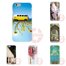 girl pink vw mini bus Soft TPU Silicon New Fashion For Samsung Galaxy Note II 3 4 5 For Sony Xperia M2 M4 M5 C3 C4 C5 X