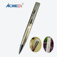 ACMECN Square Metal Ballpoint Pen Thread checker Design for Birthday's Gifts Fashion Office Stationery Aluminium Ball Pens 1620B