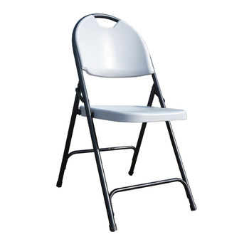 Alextend Folding Chairs with Carrying Handle 4-Pack Gray