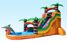 (China Guangzhou) manufacturers selling inflatable slides, Inflatable pool slide CB-032(China)