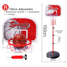 Basketball Hoop Set Adjustable Height Activity Sport Game Toy Basketball Stand Goal Holder Rack For Kids Child Fitness Equipment