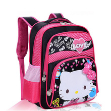Fashion Classic Cartoon Hello Kitty Backpack Children Breathable School Bags Kids Mochila Backpacks (3 Colors) Primary Bookbag