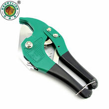 BERRYLION PVC Pipe Cutter 42mm Aluminum Alloy Body Ratchet Scissors Tube Cutter PVC/PU/PP/PE Hose Cutting Hand Tools