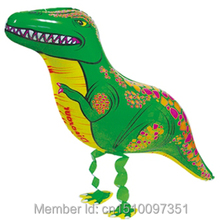 50pcs/Lot, Free Shipping, Dinosaur  Pet Walking Animals Balloons  Helium Mylar Balloons, Baby's toy, Party Decoration. Gift.