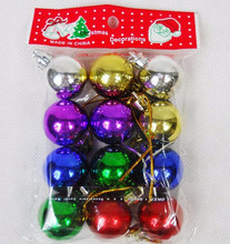 Colorful glitter plastic cheap Christmas ornaments ball for Christmas tree