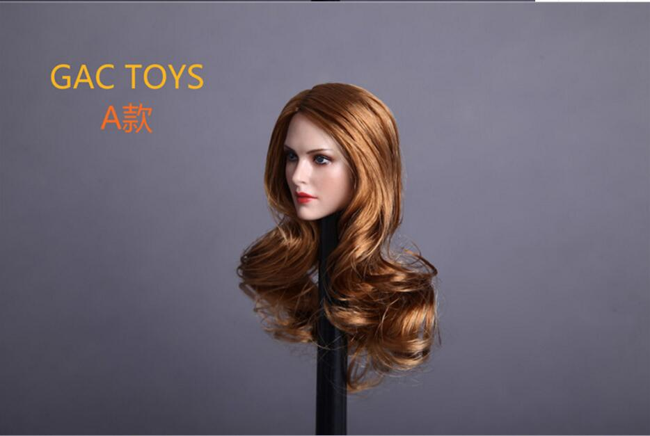 GC005 1//6 American Female Head Sculpt C For Hot Toys Phicen Female Figure C