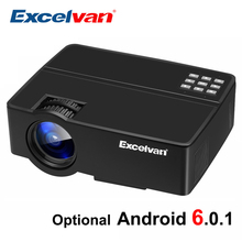 Excelvan E08 E09 1800Lumen LCD Projector Home Cinema 1080P (Optional Android OS , Bluetooth WIFI, Support AC3 ) LED TV Proyector