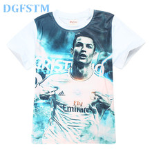 Real DGFSTM brand Boys t shirt Children clothing short sleeve tees teenage clothing summer kid tops Football star T-shirt madrid(China)