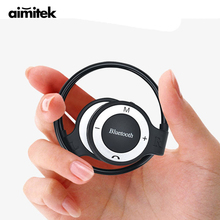 Buy Aimitek Neckband Sports Wireless Bluetooth Headphone Stereo Earphones Music Player Headsets TF Card Slot Microphone VS Mini 503 for $8.99 in AliExpress store