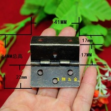 41*44MM Antique Hinge 3 equivalent page Right Angle Hinge  Wooden wooden hinges  Grips connecting piece  6 hole hinge  Wholesale