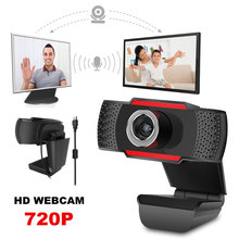 Web Cam USB Microphone Webcam HD 720P Megapixels PC Camera with Absorption MIC for Skype for Android TV Rotatable Computer