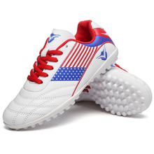 hot sale TF cleats sock football shoes boys training sneakers kids hard court soccer boots men students cheap zapatos de futbol(China)