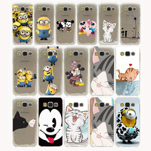 Cute Minions Cat Mickey & Minnie Kiss Hard Case Cover Samsung Galaxy S3 S4 S2 S5 Mini S6 S7 S8 Edge Plus case - Hollow Good Store store