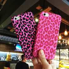 For iphone7 Leopard case , Front + Back Pink Leopard Matte skin Cover case for iphone 7 / 7P plus phone cases free glass fliml