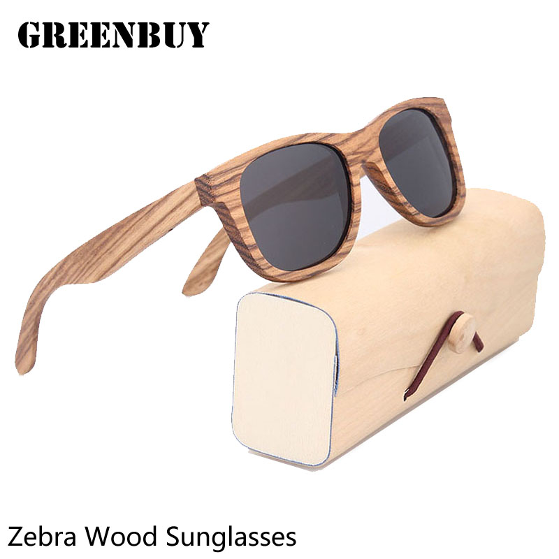 Sun Glasses for Men Gray Polarized Lens UV400 Vintage Designer Wooden Glasses Frame Mens Sunglasses Brand Designer Polarized<br><br>Aliexpress