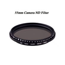 2016 ND Filter 55mm Fader Variable Nd Adjustable Nd2 To Nd400 Neutral Density FreeShipping NDFilter ND2 to ND400 for Canon Nikon(China)