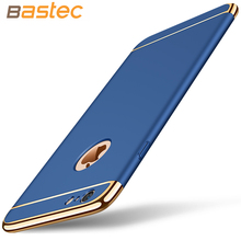 For iPhone 6 Case,Bastec Fashion Shockproof Plating Metal Texture Skin-friendly Mobile Phone Cover Case for iPhone 6 6 Plus