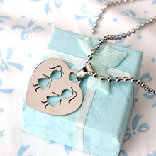 2015 New Products Stainless Steel Best Sister Necklace Best Bitch Pendant Necklace Heart Design Jewelry(China)