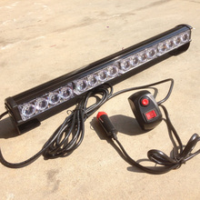 "12v Led Emergency light bar Police Strobe lamp 18"" DRL Daytime flash daylight EMS Warning fog lamp hazard Caution beacon light"