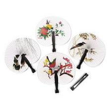 N2HAO Hot Sale Event Party Supplies Portable Foldable Paper Hand Paper Fan Wedding Decoration China Style(China)