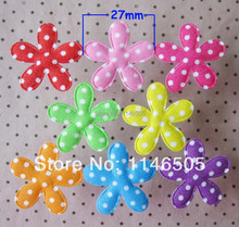 200PCS Mixed color Padded Mixed Color Cute Flower Felt Appliques for DIY Sewing Supplies kids craft Accessories